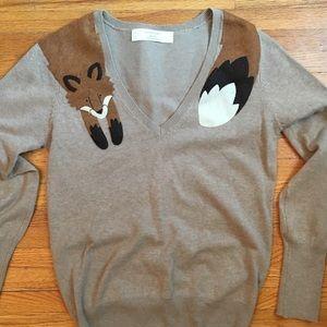Zara Knit fox sweater